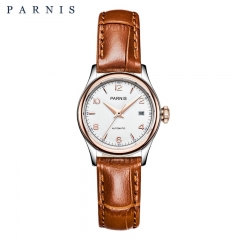 Parnis Women's Girls Elegant Mechanical Watch Miyota Automatic Movement Sapphire Crystal