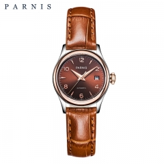 26mm Parnis Women's Girls Elegant Watch Sapphire Crystal Miyota Automatic 5 ATM Waterproof